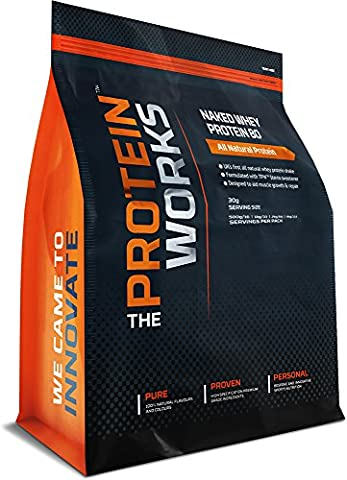 THE PROTEIN WORKS Naked Whey Protein 80 Natural Protein Shake - 1 kg, Wild Strawberry