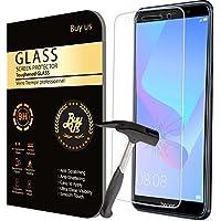 Buyus X2 Film Protecteur d'écran VITRE en VERRE TREMPE pour Huawei Y6 2018 Ultra Transparent Ultra Résistant INRAYABLE INVISIBLE (2 exemplaires) - Y6 2018 Ultra
