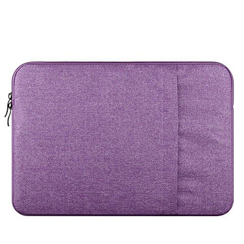 Hülle Nur für MacBook 12-Zoll mit Retina Display 2017/2016/2015 Release, Polyester Wasserabweisend Vertikale Stil Laptophülle Schutzhülle Laptoptasche Notebooktasche Case Bag,Lila
