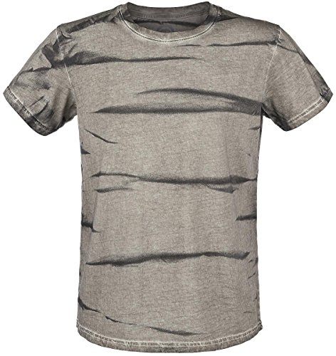 R.E.D. by EMP Spray Washed T-Shirt grigio/verde S