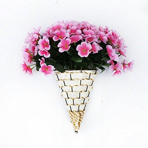 Guorihonghp GRH Rattan Blumentopf Wandbehang Eis Blumenkorb Künstliche Blume Container Wand Pflanzen Vase Garten - Wicker Couchtisch Große