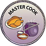 Best Cook Awards - Master Cook Award, 1 inch dia Silver Pin Review
