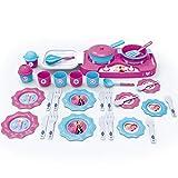 #1018 Disney Frozen Kochset Herdplatte und Zubehör • Kinderküche Spielküche Spielzeug Küche Kinder Geschirr Set