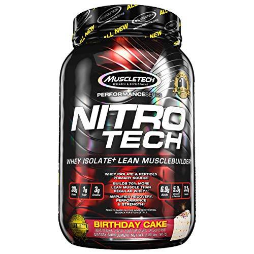 Muscletech Performance Series Nitro-Tech Vanilla Birthday Cake - 900 gr