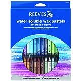 Reeves Set de 48 Crayons cire Aquarellable