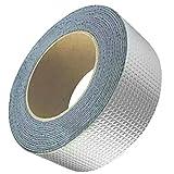 Sharplace L'adesivo Butilico Adesivo del Nastro di Alluminio Ripara lo Schermo Termico - Argento 30x1.5mm
