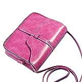 DAY.LIN Damen Retro Mini Diagonale Umhängetasche Vintage Geldbörse Tasche Leder Umhängetasche Umhängetasche (Pink)