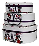 Shunkk™ 3 Pcs Set- Professional Beauty Make Up Storage Box Nail Cosmetic Box Vanity Case / Jewelry Box / Cosmetic Organiser Bag