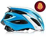 Shinmax Casco Bici MTB con Visiera e Luce di LED Rimovibile Casco da Ciclismo Casco Leggero da Bicicletta per Uomo e Donna Protezione Stradale per Biciclette