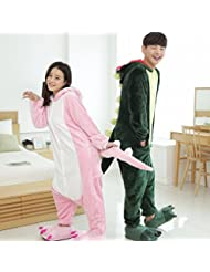 Unisex Pijamas para Adultos - Peluche de una Pieza Cosplay Animal Traje Invierno Espesamiento Ocio,Rosado,XL