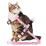 Arnés de nailon ajustable para gato con correa para cachorro y correa para collar y correa de seguridad