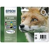 Encre d'origine EPSON Multipack Renard T1285 : cartouches Noir, Cyan, Magenta et Jaune