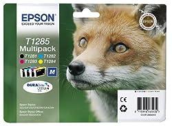 Epson Original T1285 Fuchs, Wisch- Und Wasserfeste Tinte (Multipack, 4-farbig) (Cymk)
