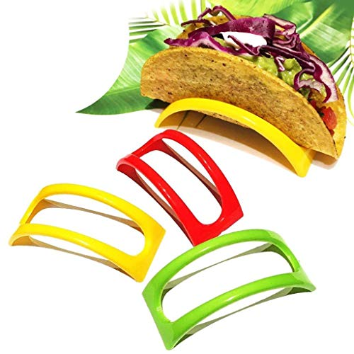ul Plastic Taco Shell Holder Taco Stand Plate Protector Food Holder ()