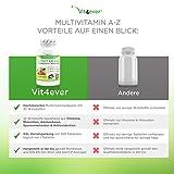 Multivitamin A-Z – 360 Tabletten – 32 Vitamine & Mineralien – 360 Tage Versorgung – Täglich nur 1 Tablette – Mulitvitamine – Vitamin C, Eisen, Vitamin E, Zink, Vitamin B3, Niacin, Magnesium, Vitamin B5, Vitamin D3, OPC, Traubenkernextrakt, Glutamin, Vitamin B6, Alpha-Liponsäure, Vitamin B1, Vitamin B2, Vitamin B3, Vitamin D3, Vitamin A, Folsäure, Kupfer, Vitamin B12, Selen, Biotin … - 6
