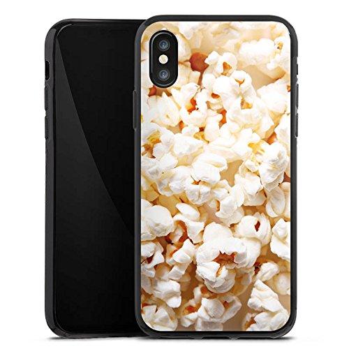 Apple iPhone X Silikon Hülle Case Schutzhülle Popcorn Kino Poppin Corn Silikon Case schwarz