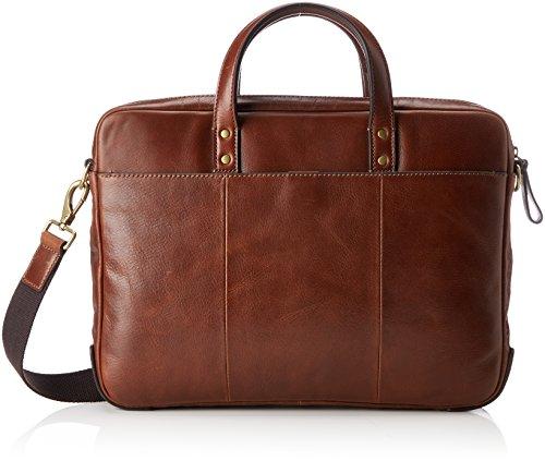 Fossil Messenger Taschen (Fossil Herren Herrentasche– Defender Briefcase Laptop Tasche, Braun (Cognac), 7.62x30.48x38.1 cm)