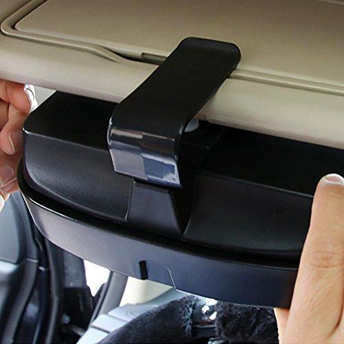 Auto Sonnenschutz Brille Sonnenbrille Utomobile Board Bills Clip Multifunktionale Aufbewahrung Halter Tragbare Organizer Tasche Einfache Montage Box Auto Schwarz