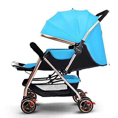 Hoch Hängende Licht (QQ LONG Kinderwagen Faltbarer einfacher Griff Reversible hängendes Licht tragbare hohe Landschaft kann Sich hinsetzen, um neugeborenen Wagen zu Legen,B)