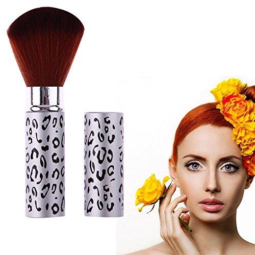 Domybest Portable télescopique Blush Brosse à poudre libre Outil de brosse de maquillage Beauté