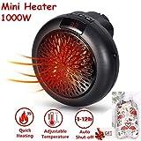 Mini Heater Estufa Eléctrica Portátil de Bajo Consumo 1000 W con Enchufe Eléctrico, Ajustable de