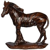 StealStreet Collectible Standing Faux Wood Zebra Figurine