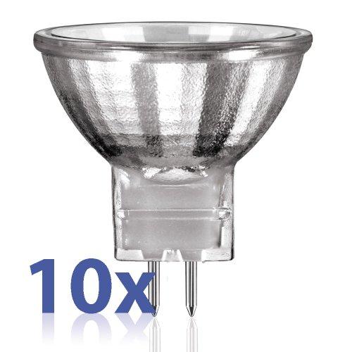 Lissek Parlat MR11Lot de 10ampoules halogènes CulotGU4 12V 10watts Blanc chaud