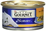 Gourmet Solitaire Wet Cat Food Premium Fillets with Turkey in Sauce 85 g - Pack of 12