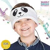 Snuggly Rascals (v.2) Kinder-Kopfhörer, ultra-bequem, größenverstellbar und mit begrenzter Lautstärke; Ideal für Reisen & Verwendung mit Kinder-Tablets und -Smartphones. Geeignet für Mädchen und Jungen. Fleece-Version. - Panda