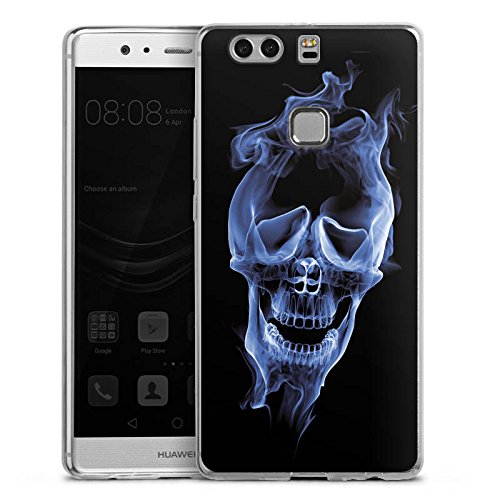 Case Silikon Hülle Schutzhülle Halloween Skull Rauch (Halloween-rauch-effekte)