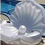 Sfera di perle a forma di ventaglio acqua gonfiabile palla galleggiante, acqua gonfiabile Mount Floating Row nuoto gonfiabile giocattolo adulti bambini galleggiante letto acqua sedia di divertimento