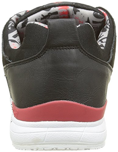 Kickers Slayer Kylo M, Baskets Basses Homme Noir (Noir/Rouge)
