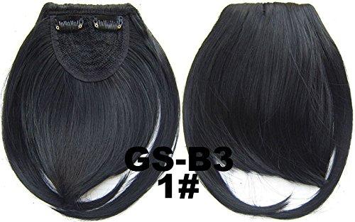 # 1 100% fibre synthétique haute température Clip dans/sur cheveux avant frange frange cheveux