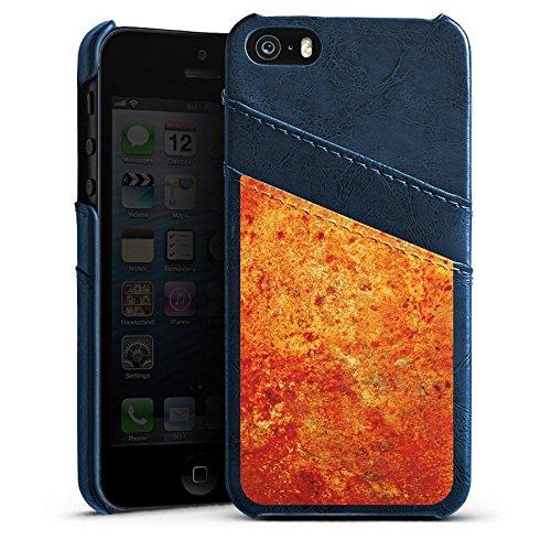 Apple iPhone 4s Housse Étui Silicone Coque Protection Rouille Structure Look Étui en cuir bleu marine
