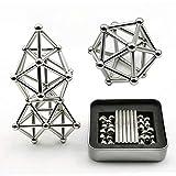 Surenhap Magnetische Bausteine, 63pcs Magnet Construction Set Magnetic Stick und Bälle Bausteine
