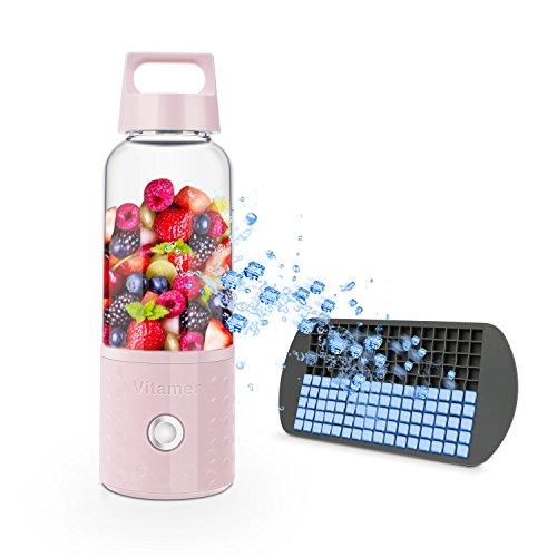 Mini batidora Botella, bizoerade portátil personal batidora, Juicer De Cup para de frutas Smoothie Baby de Food Picnic Rosa