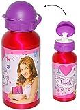 Unbekannt Alu Trinkflasche / Sportflasche - auslaufsicher -  Disney Violetta  - aus Aluminium 450 ml - für Kinder - Aluflasche 0,45 Liter / 450 ml - Flasche - Mädchen..
