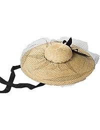 CFHJN Home Sombrero de Mujer ala de Paja Sombrero Grande Dama Etapa Caminar  en la Playa Protección Solar Sombrilla Banda Sombrero… f4a79109a5ea