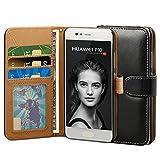 Huawei P10 Hülle, ViViSun Wallet Ledertasche mit