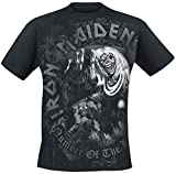Iron Maiden Number of The Beast Grey Tone Camiseta Negro L