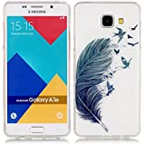 Vandot Coque pour Samsung Galaxy A3 2016 A310 Silicone TPU Bumper Unique Design Souple TPU Soft Cover Effacer Clair transparent Etui Housse Case - Feather