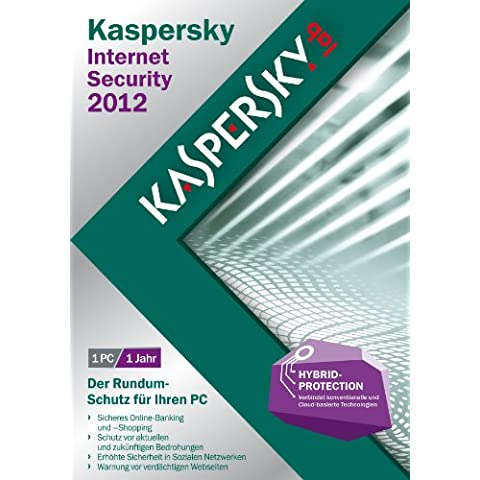 Kaspersky Lab Internet Security 2012, 1u, DVD, Box, DEU - Seguridad y antivirus (1u, DVD, Box, DEU, Caja, 1 usuario(s), 480 MB, 512 MB, 800 MHz, Windows XP Home Edition SP2+ Windows XP Professional SP2+)