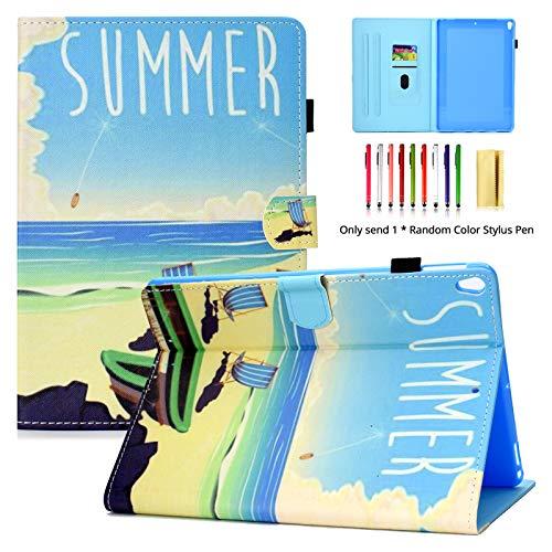 LittleMax Schutzhülle für Apple iPad Pro 10,5 Zoll (26,7 cm), ultradünn, leicht, dünn, PU-Leder, Standfunktion, automatischer Schlaf- / Wachmodus, 05 Summer Pda Holster