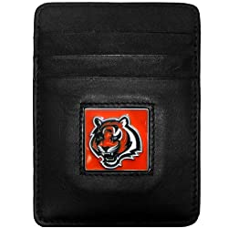 Cincinnati Bengals Leather Money Clip/Cardholder Packaged in Gift Box