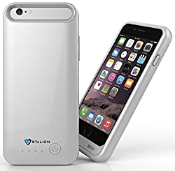 iPhone 6 6s Battery Case : Stalion Stamina Rechargeable Extended Charging Case [Apple MFi Certified][24-Month Warranty](Quick Silver) 3100mAh Protective Charger Case for Apple iPhone 6 & 6s (4.7Inches) with 2 Interchangeable Frames + LED Charge Indicator Light