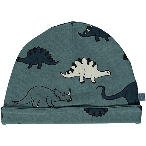 Smafolk Beanie Dinosaurier Steinblau-XS