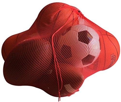 NewEarthProducts Mesh Sport Ausrüstung Tasche, Set von 2Staubbeutel (Rot, 36x 24)
