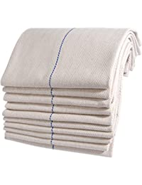 Oven Cloth Herringbone Weave Cream pack of 10