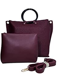 Chandrika Premium Women Handbag Made Of Leather, Handbag Cum Sling, Bag In Bag And Clutch Combo.