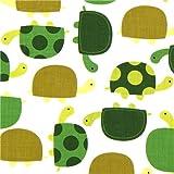 Bonita tela con tortugas verdes Robert Kaufman (por 0,5 m múltiples)